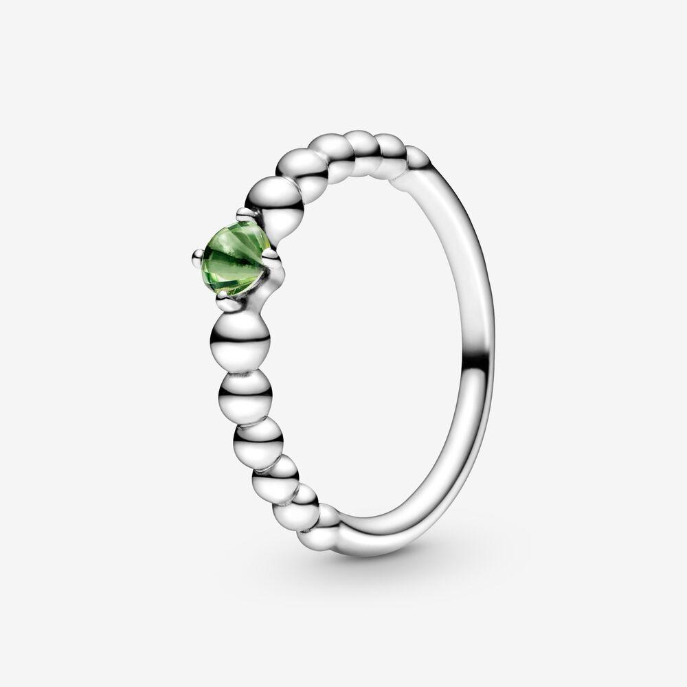 Spring Green Beaded Ring