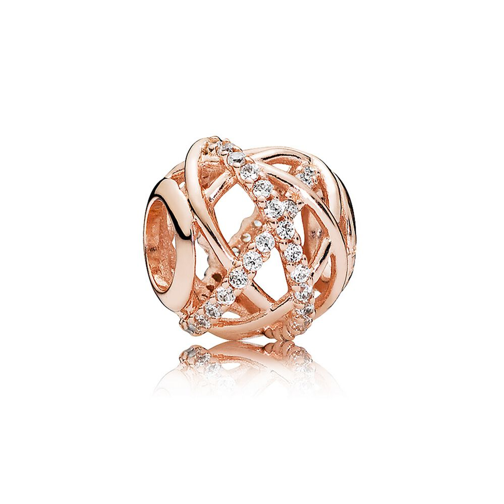 by pandora charms rose gold