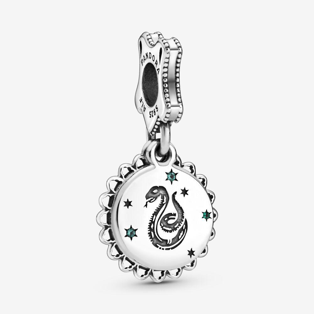 Harry Potter, Slytherin Dangle Charm | Sterling silver | Pandora US