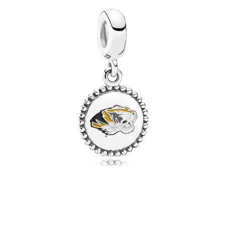 University of Missouri Dangle Charm, Mixed Enamel, Sterling Silver, Black - PANDORA - #ENG791169_85