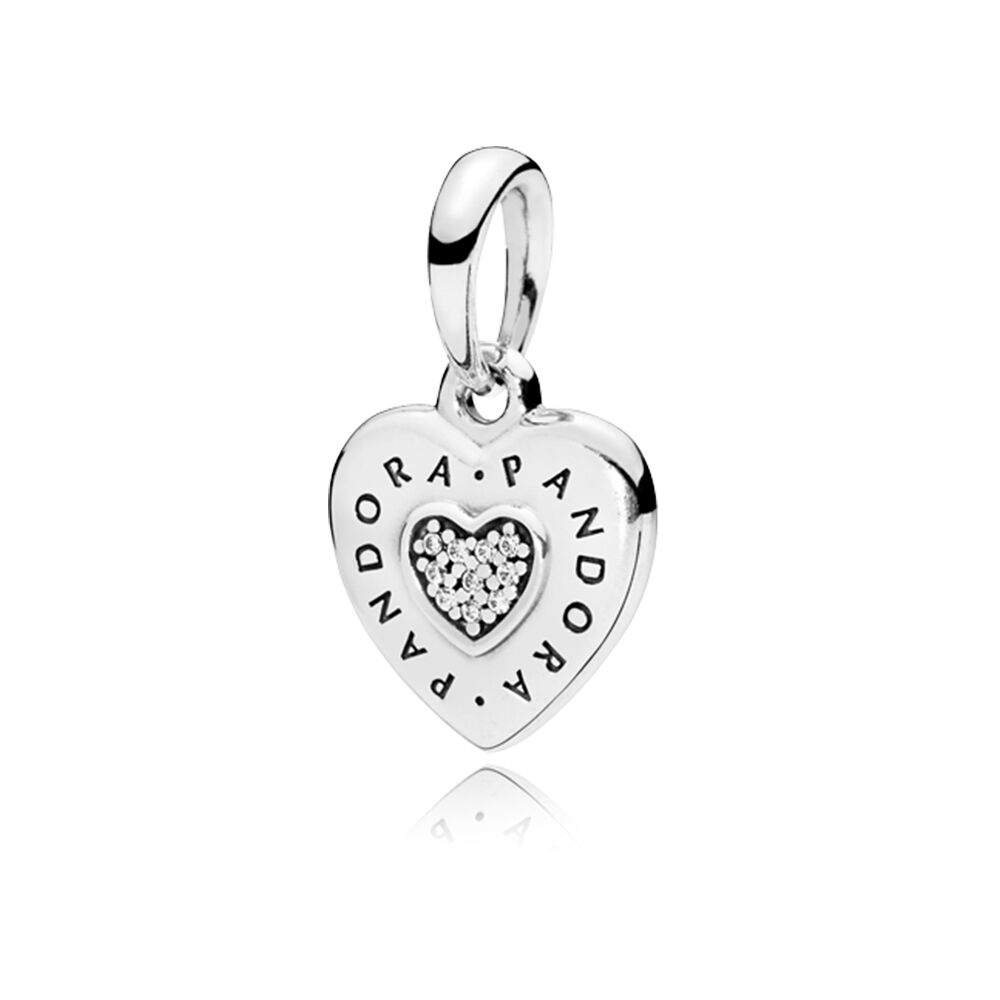 Pandora Signature Heart Pendant Clear Cz Pandora Jewelry Us