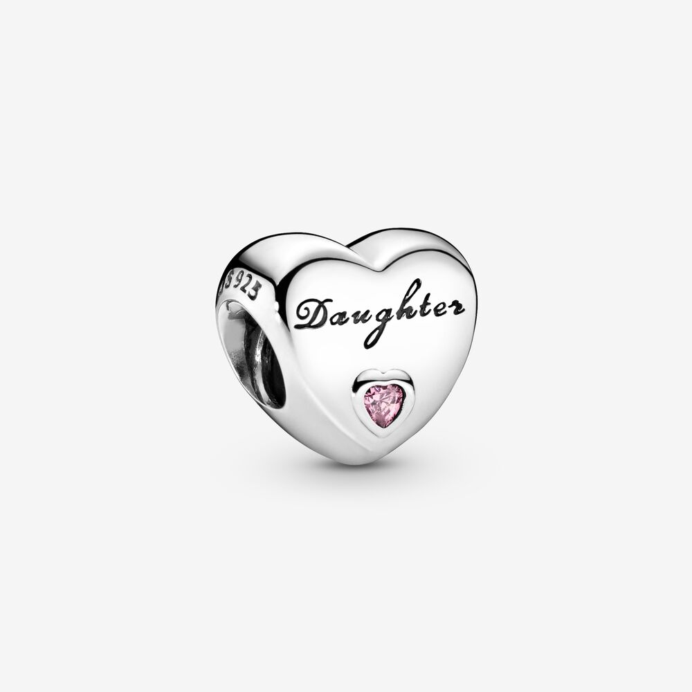 Daughter Heart Charm | Sterling silver | Pandora US
