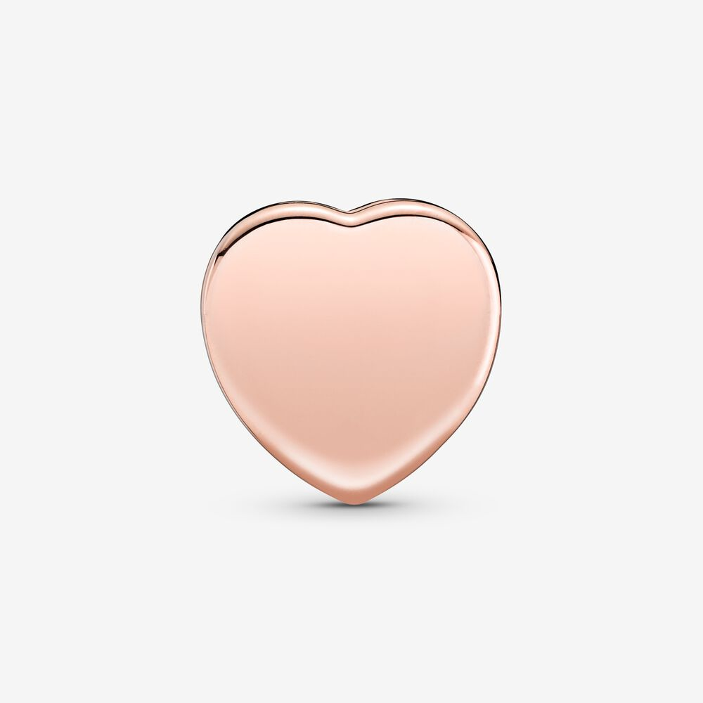 Pavé Heart Clip Charm | Rose gold plated | Pandora US