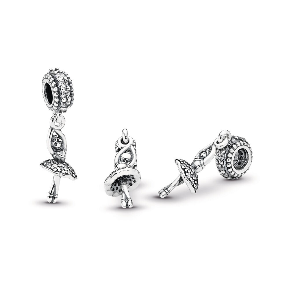9fbbab7462b Ballerina Dangle Charm, Clear CZ, Sterling silver, Cubic Zirconia - PANDORA  - #
