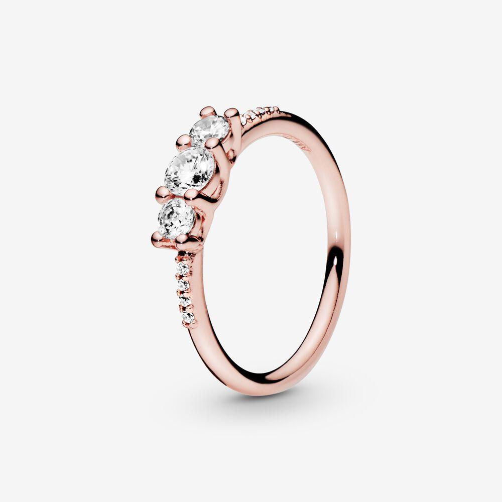 Sparkling Elegance   Rose Gold-Plated Ring   Rose gold plated ...