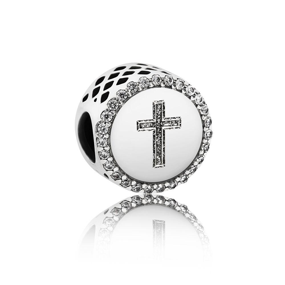 2735bd968 Faith Cross Charm, Sterling silver, Cubic Zirconia - PANDORA -  #ENG792016CZ_2