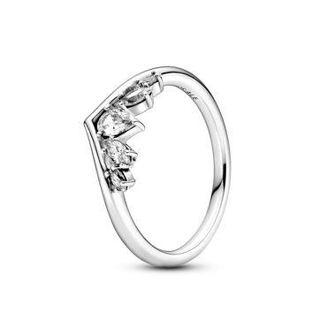 Sparkling Pear & Marquise Wishbone Ring