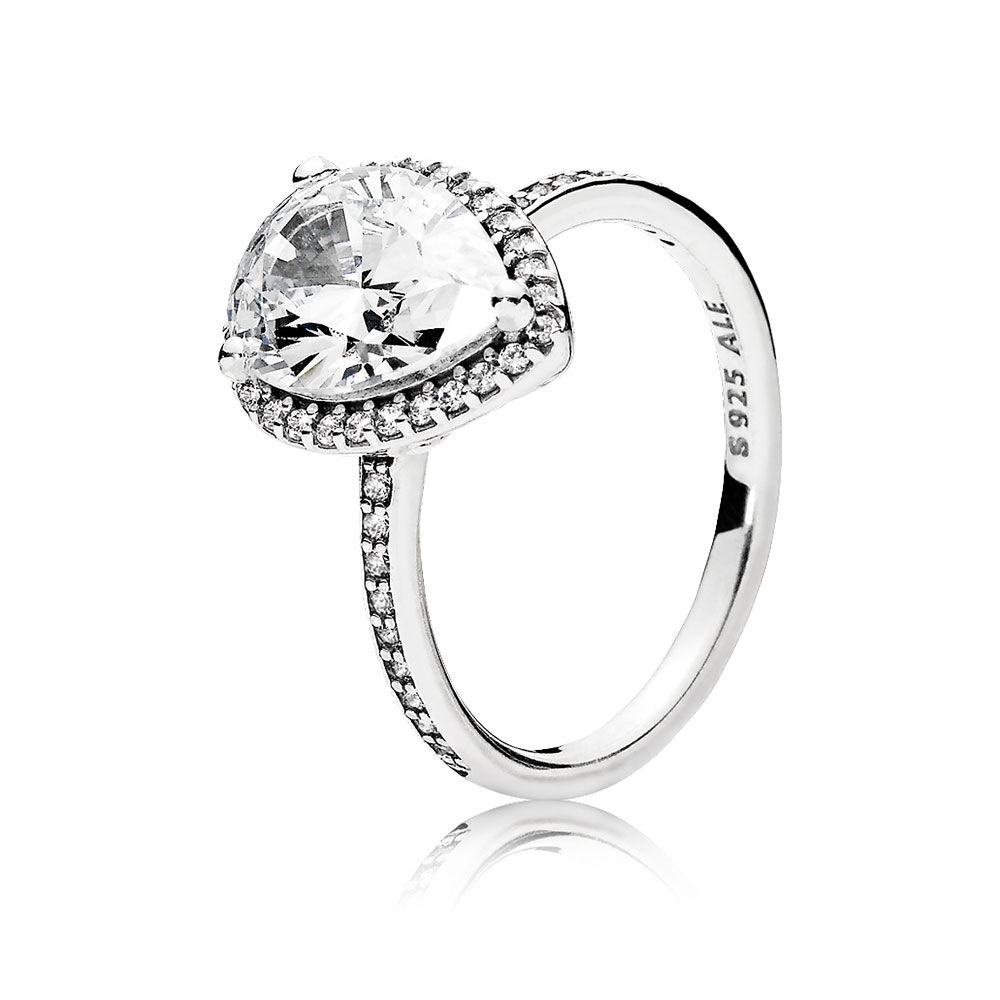 shimmering silver leaves rings en diamond ring statement individual pandora estore