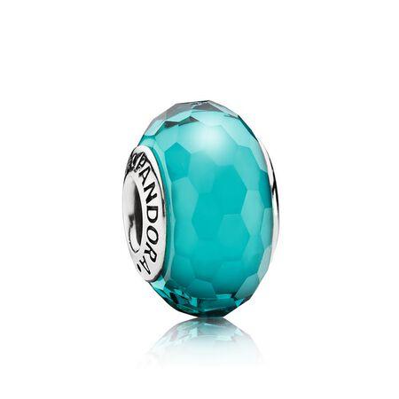 Fascinating Teal Charm, Murano Glass