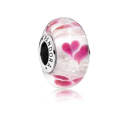 Wild Hearts Charm, Murano Glass