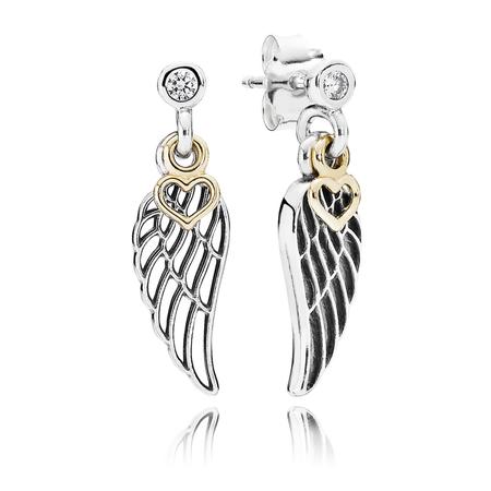 Love & Guidance Drop Earrings, Clear CZ