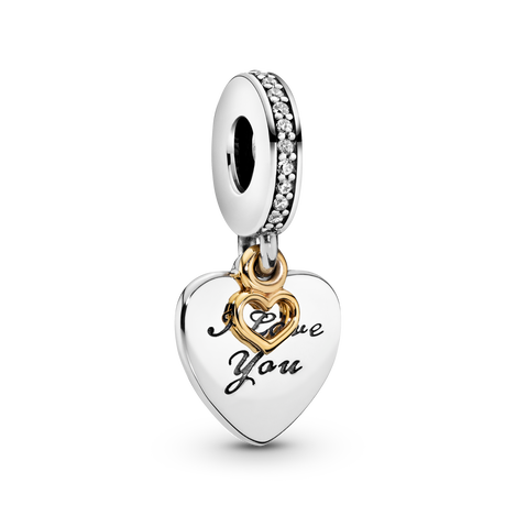 I Love You Forever Heart Dangle Charm