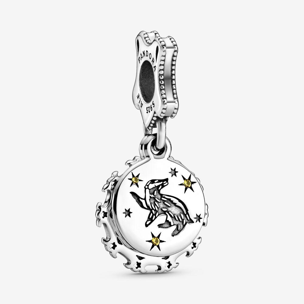Harry Potter, Hufflepuff Dangle Charm | Sterling silver | Pandora US