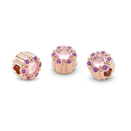 Heraldic Radiance Charm, PANDORA Rose™ & Pink & Purple Crystals