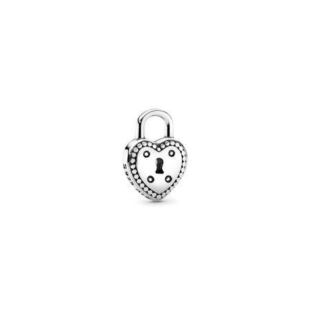Love Lock Petite Locket Charm, Sterling silver - PANDORA - #796569