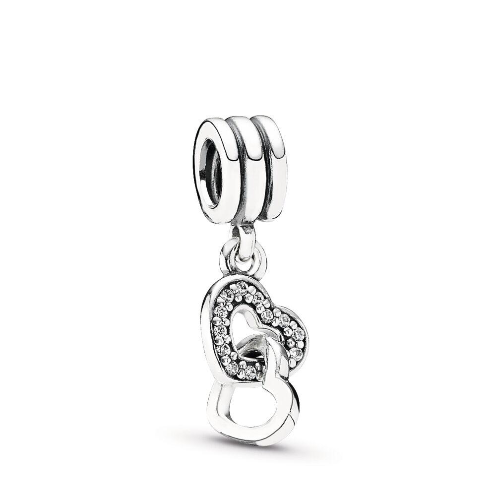 fe14025b3 Interlocking Love, Clear CZ, Sterling silver, Cubic Zirconia - PANDORA -  #791242CZ