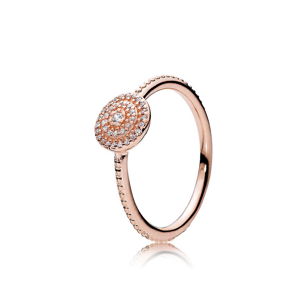 Radiant Elegance Ring, PANDORA Rose™ & Clear CZ   PANDORA Jewelry US