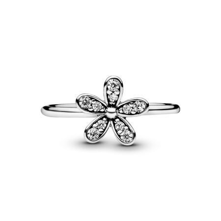 Dazzling Daisy Ring, Clear CZ