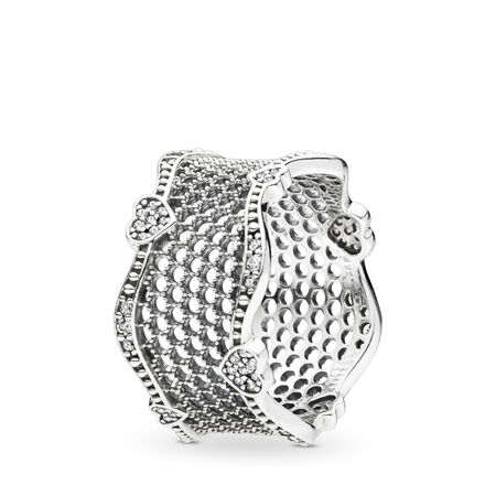 Lace of Love Ring, Clear CZ, Sterling silver, Cubic Zirconia - PANDORA - #197706CZ