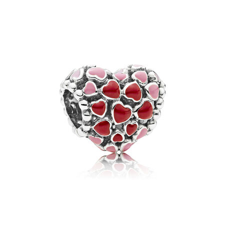 Burst of Love Charm, Mixed Enamel