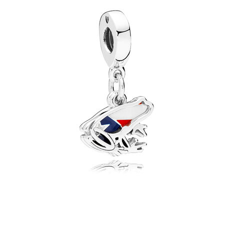 Love Puerto Rico Dangle Charm, Red, White & Blue Enamel
