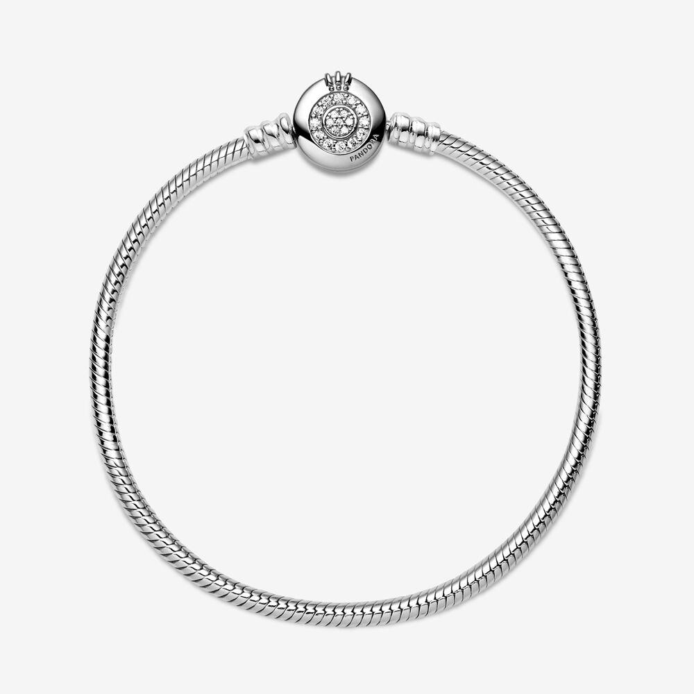 Pandora Moments Sparkling Crown O Snake Chain Bracelet | Sterling ...
