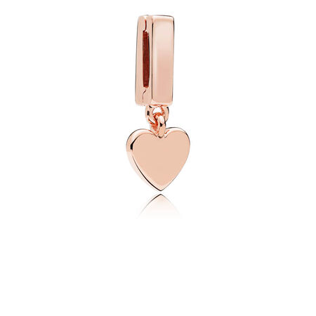 PANDORA Reflexions™ Floating Heart Clip Charm, PANDORA Rose™