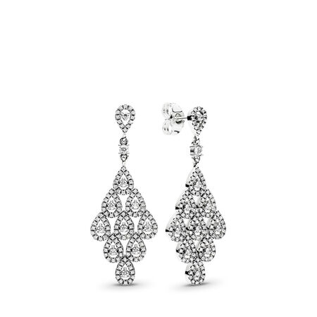 8f335007d Cascading Glamour Earrings, Clear CZ, Sterling silver, Cubic Zirconia -  PANDORA - #