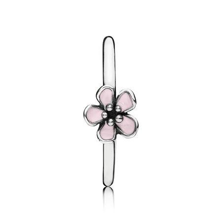 Cherry Blossom Ring, Pink Enamel