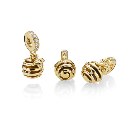 Sweet As Honey Charm, PANDORA Shine™, Tiger Eye & Clear CZ