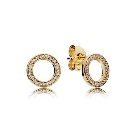 PANDORA Forever Stud Earrings, PANDORA Shine™ & Clear CZ