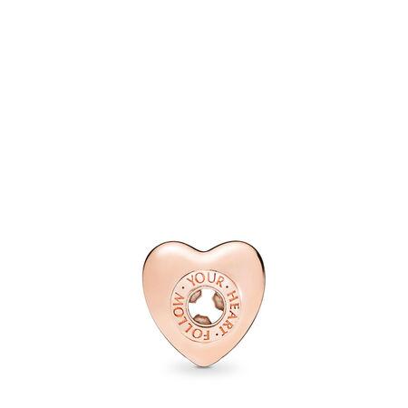 FOLLOW YOUR HEART Charm, PANDORA Rose™, PANDORA Rose, Silicone - PANDORA - #787282