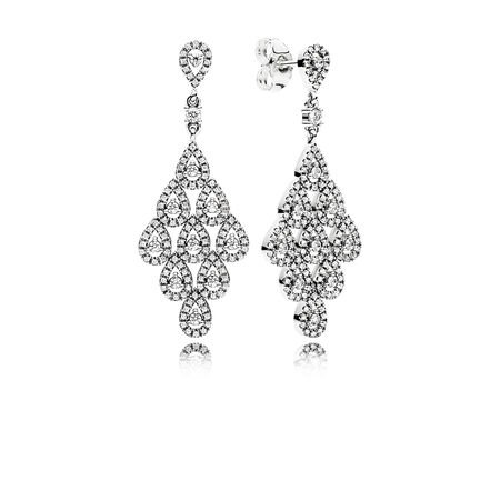 Cascading Glamour Earrings, Clear CZ
