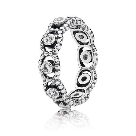 Her Majesty Ring, Clear CZ