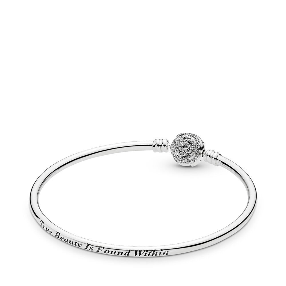34d6f05ae Disney, Beauty & The Beast Bangle Bracelet, Clear CZ
