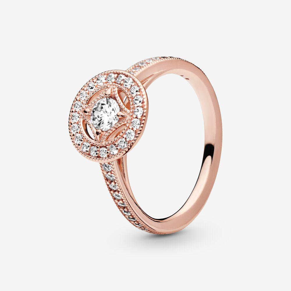Vintage Circle Ring   Rose gold plated   Pandora US