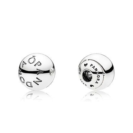 PANDORA Logo Open Bangle Caps, Sterling silver - PANDORA - #796489