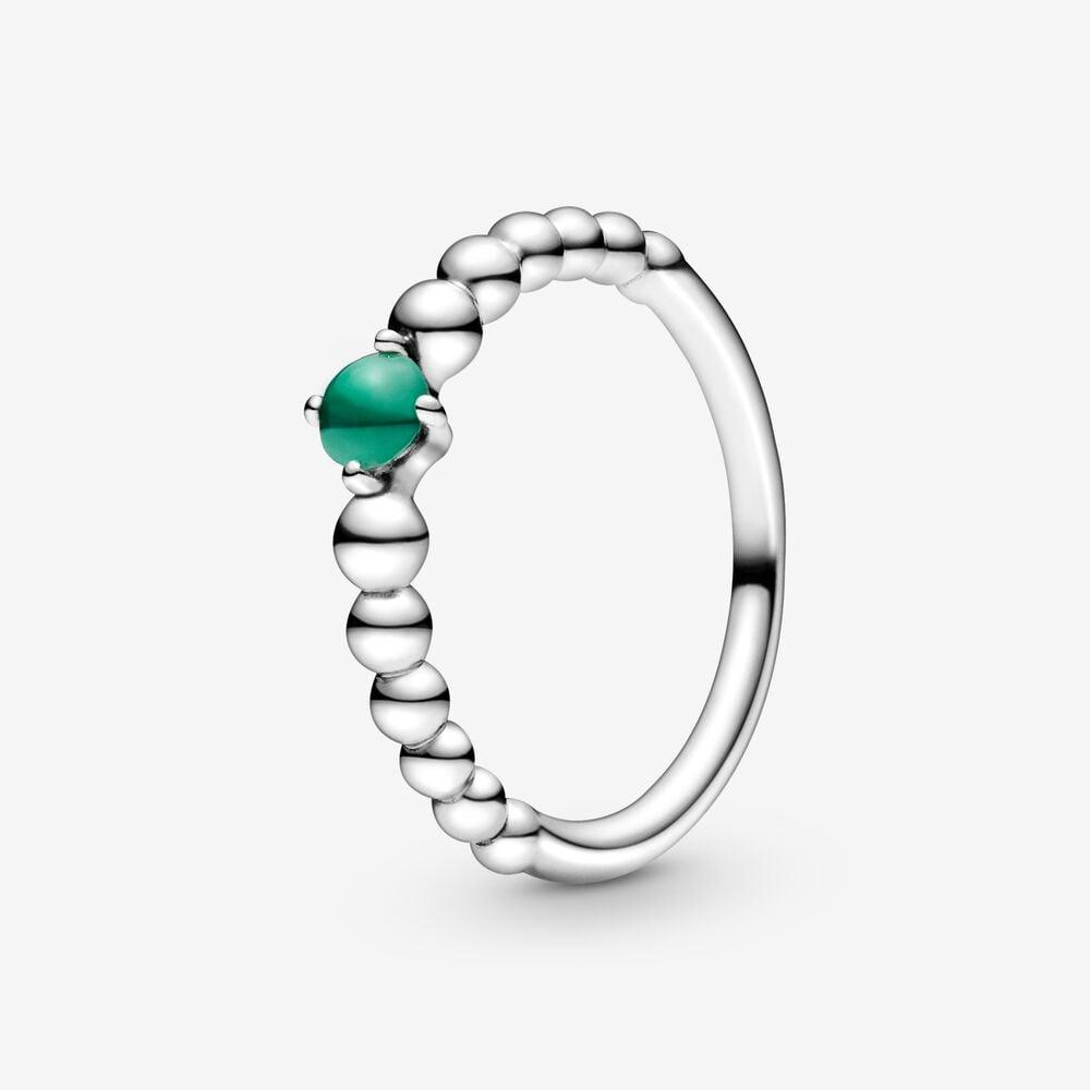 Rainforest Green Beaded Ring
