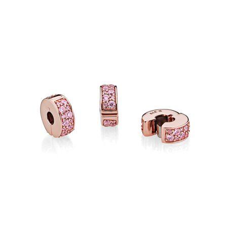 Shining Elegance Clip, PANDORA Rose™ & Pink CZ