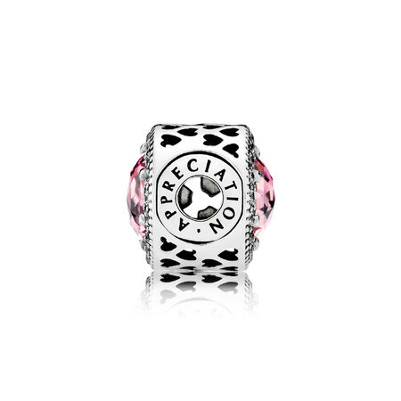 APPRECIATION Charm, Pink & Clear CZ
