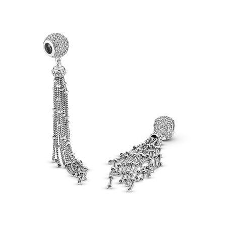 Enchanted Tassel Pendant, Clear CZ, Sterling silver, Cubic Zirconia - PANDORA - #797018CZ