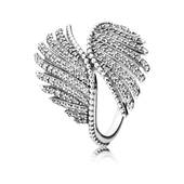 Majestic Feathers Ring, Clear CZ