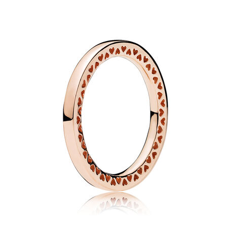 Classic Hearts of PANDORA Ring, PANDORA Rose™