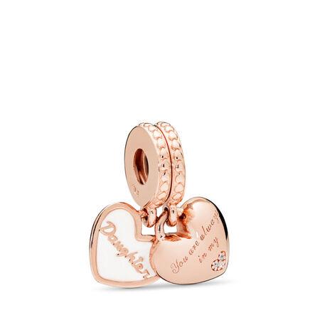 866307ecde08d Mother & Daughter Hearts Dangle Charm, PANDORA Rose™, Silver Enamel ...