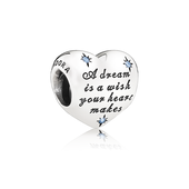 Disney, Cinderella's Dream Charm, Fancy Light Blue CZ
