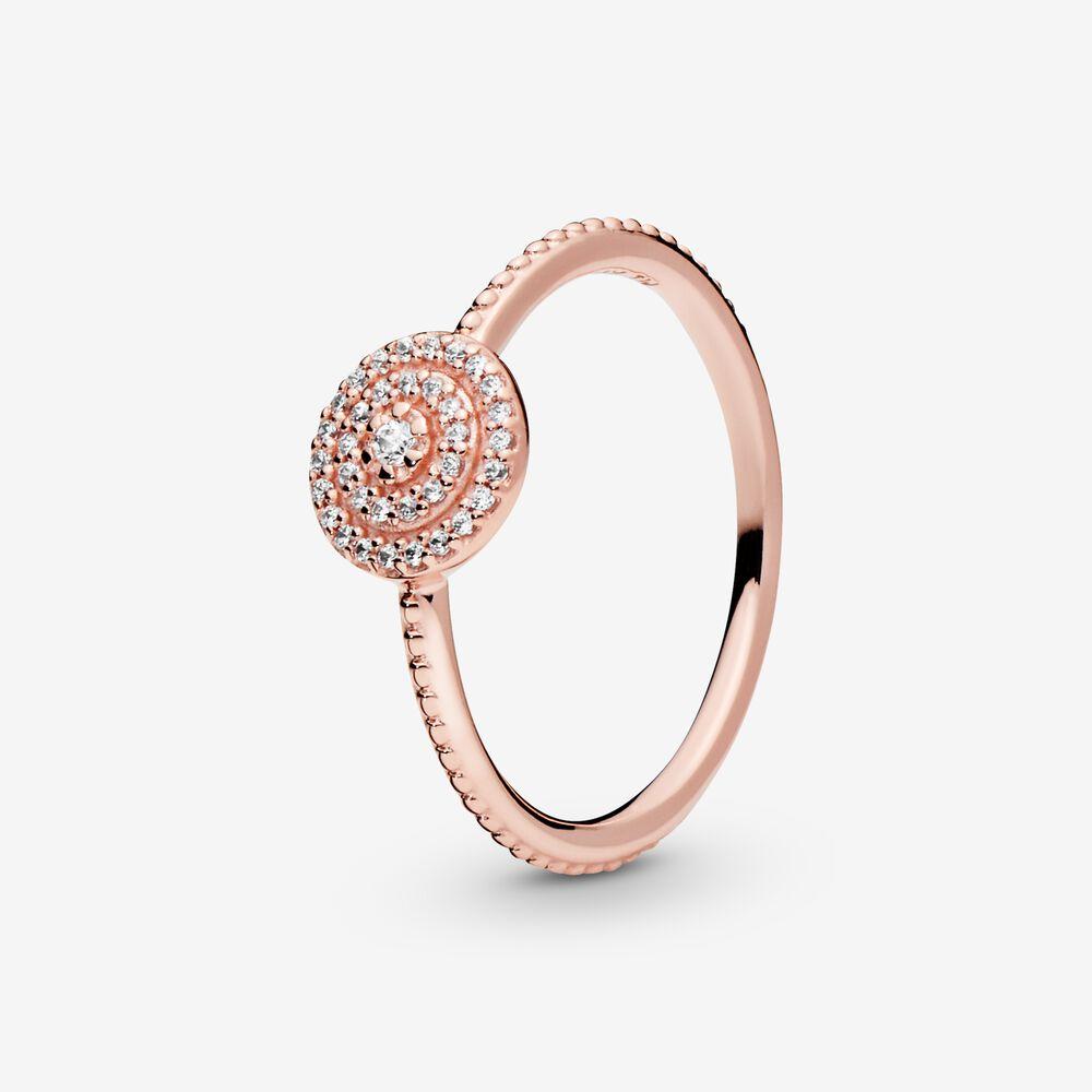 Elegant Sparkle Ring   Rose gold plated   Pandora US