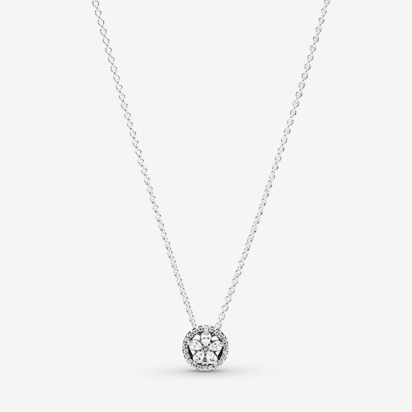 Sparkling Snowflake Collier Necklace Silver Pandora Us