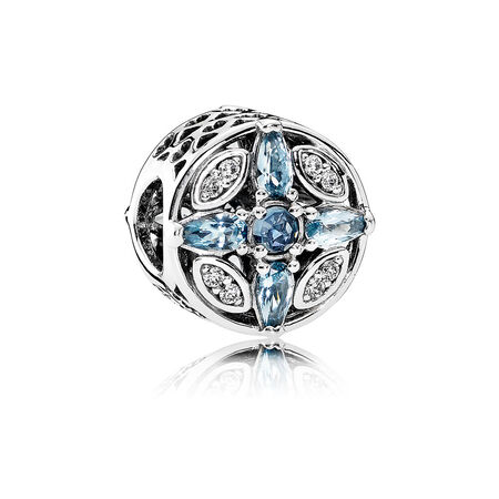 Patterns of Frost Charm, Multi-Colored Crystal & Clear CZ
