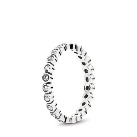 376456264 Alluring Petite Brilliant Stackable Ring, Clear CZ, Sterling silver, Cubic  Zirconia - PANDORA