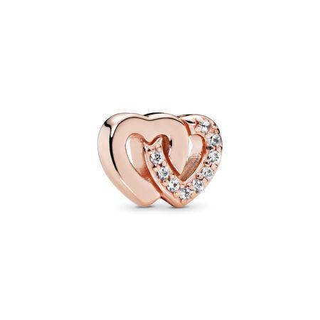 81034c9d4 Interlocked Hearts Petite Locket Charm, PANDORA Rose™ & Clear CZ PANDORA  Rose, Cubic Zirconia